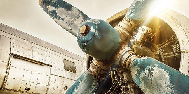 Manutenzione aerei fermi