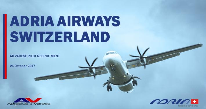 Selezioni Adria Airways Switzerland in Aeroclub Varese